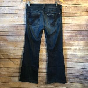 7 For All Mankind Dojo Flare Jeans Size 27X31